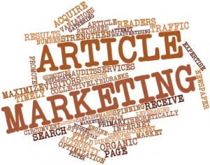 Abstract word cloud for Article marketing with related tags and terms